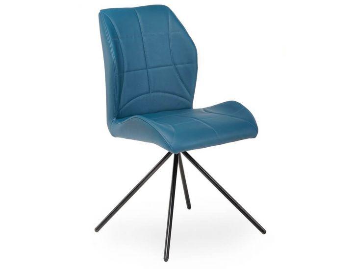 Дизайнерский мягкий стул M-14 синий