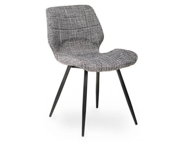 Дизайнерский мягкий стул M-15 серый твид