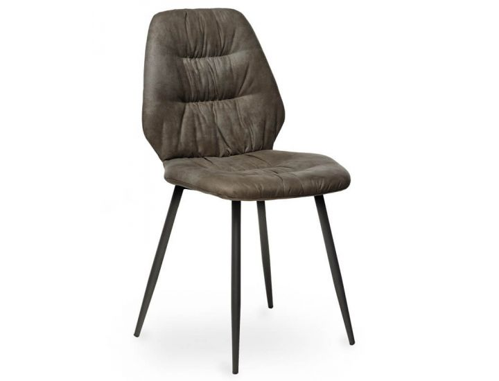 Дизайнерский мягкий стул M-17 серый