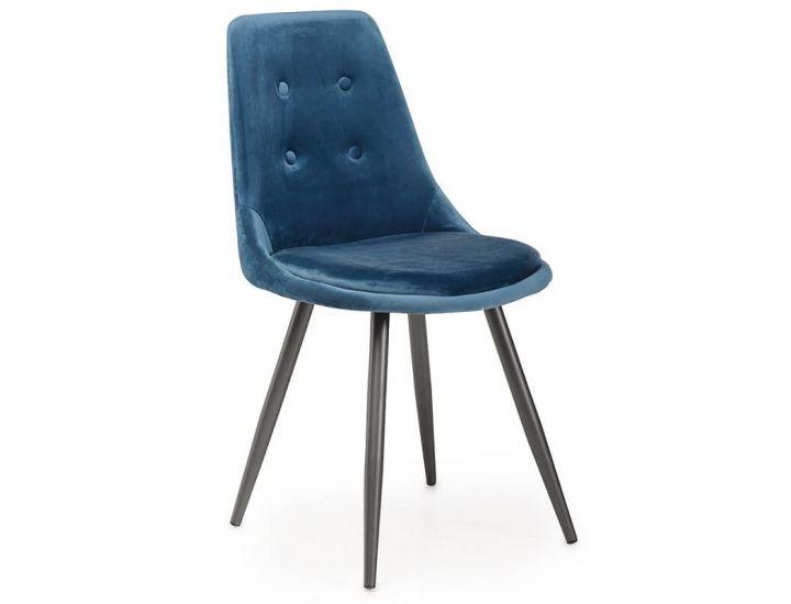 Дизайнерский мягкий стул M-19 лазурный