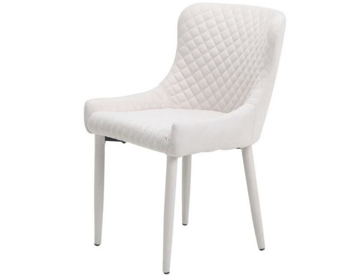 Дизайнерский мягкий стул M-20 молочный шенилл