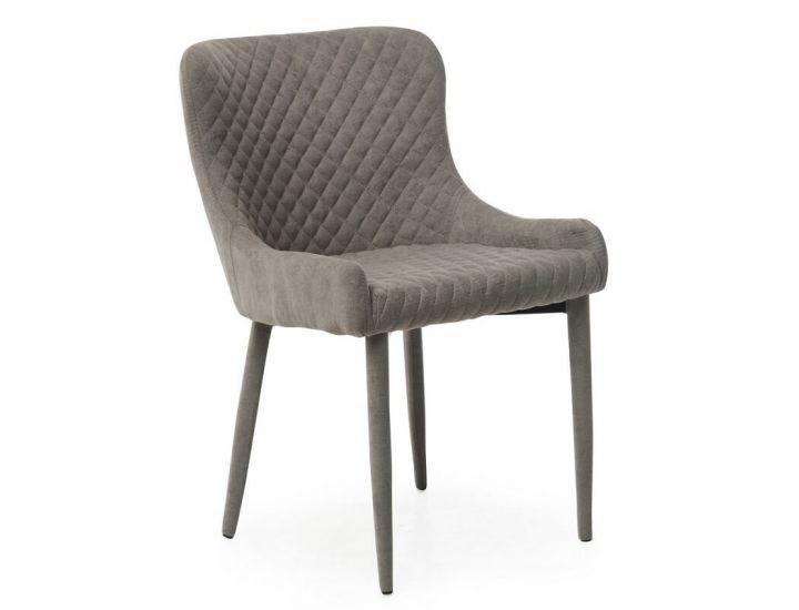 Дизайнерский мягкий стул M-20 пепельный шенилл