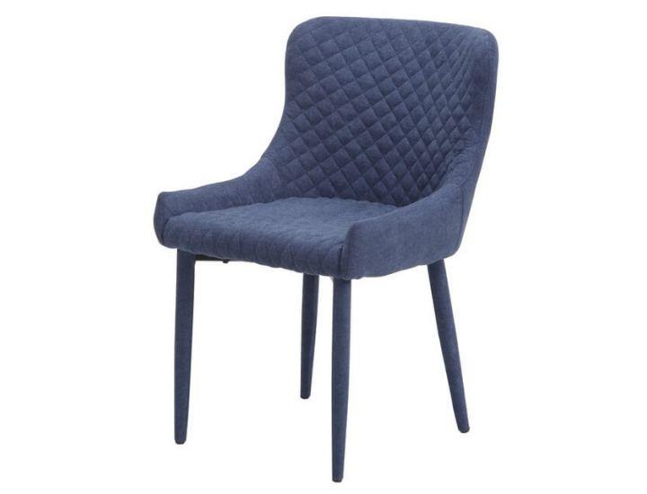 Дизайнерский мягкий стул M-20 синий шенилл
