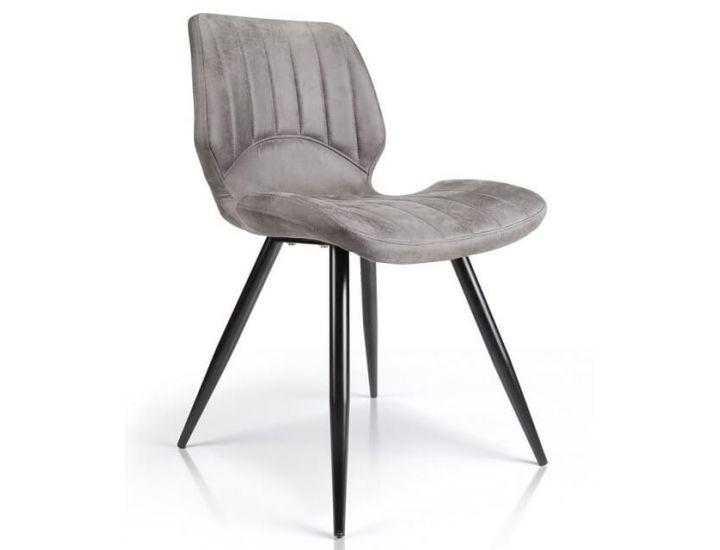 Дизайнерский мягкий стул M-22 серый