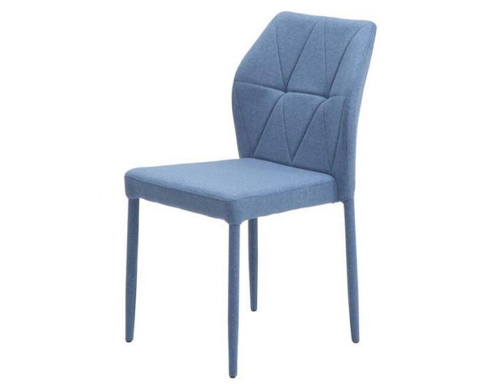 Дизайнерский мягкий стул M-24 синий