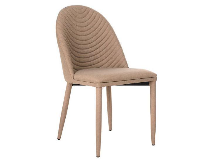 Дизайнерский мягкий стул M-25 молочный