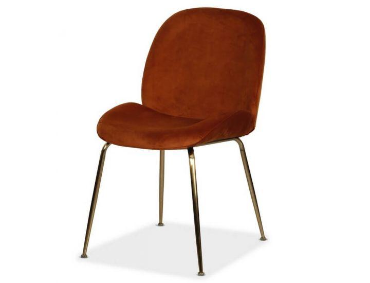 Мягкий стул M-32-3 медный вельвет