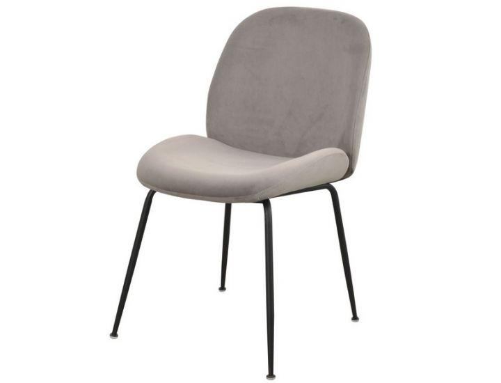 Мягкий стул M-32 пепельный вельвет