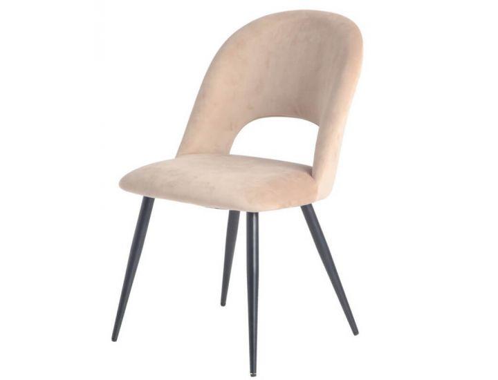 Дизайнерский мягкий стул M-33 капучино вельвет