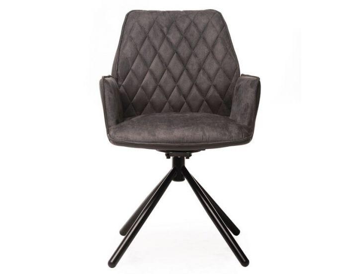 Дизайнерский мягкий стул поворотный M-34 графит