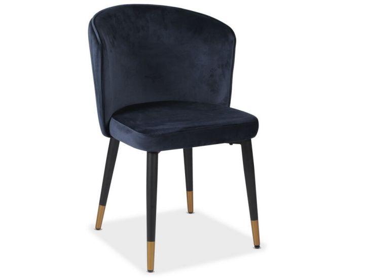 Мягкий стул M-36 индиго вельвет VETRO (Ветро)