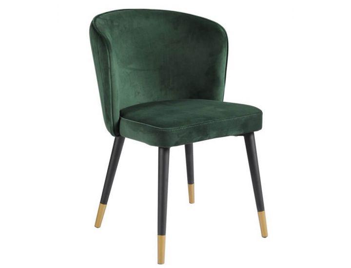 Мягкий стул M-36 изумруд вельвет