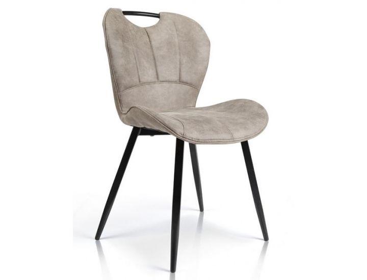 Дизайнерский мягкий стул M-38 серо-бежевый