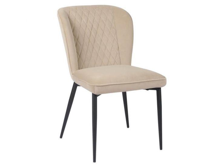 Дизайнерский мягкий стул M-44 матовый капучино вельвет