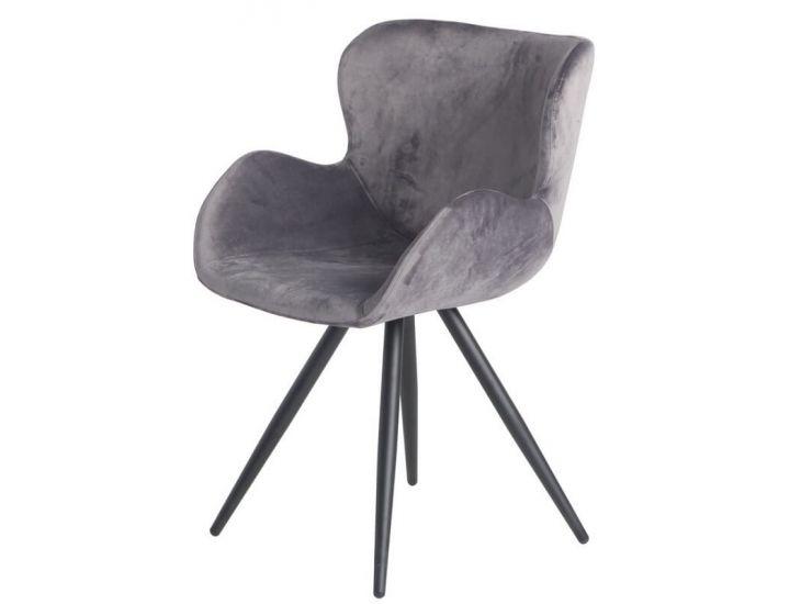 Мягкий стул M-50 пепельный вельвет