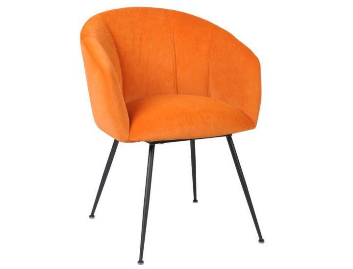 Дизайнерский мягкий стул M-60 медный матовый вельвет