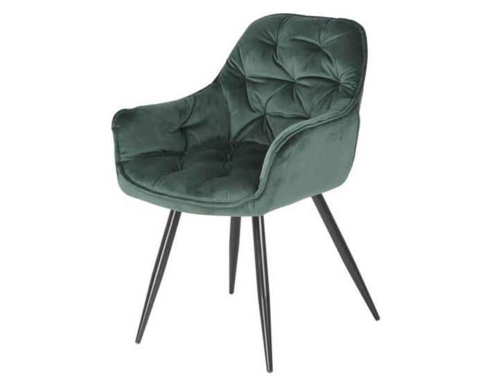Дизайнерский мягкий стул M-65 изумрудный вельвет