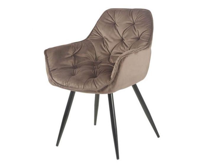 Дизайнерский мягкий стул M-65 коричневый вельвет VETRO (Ветро)