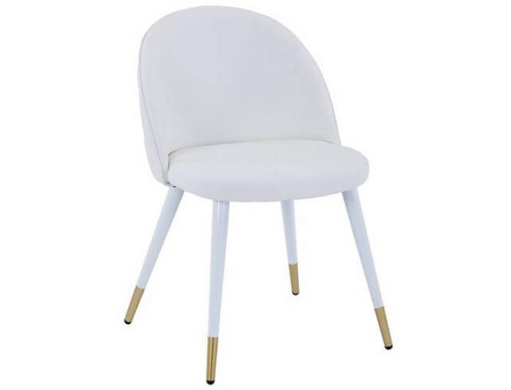 Дизайнерский мягкий стул M-99 белый