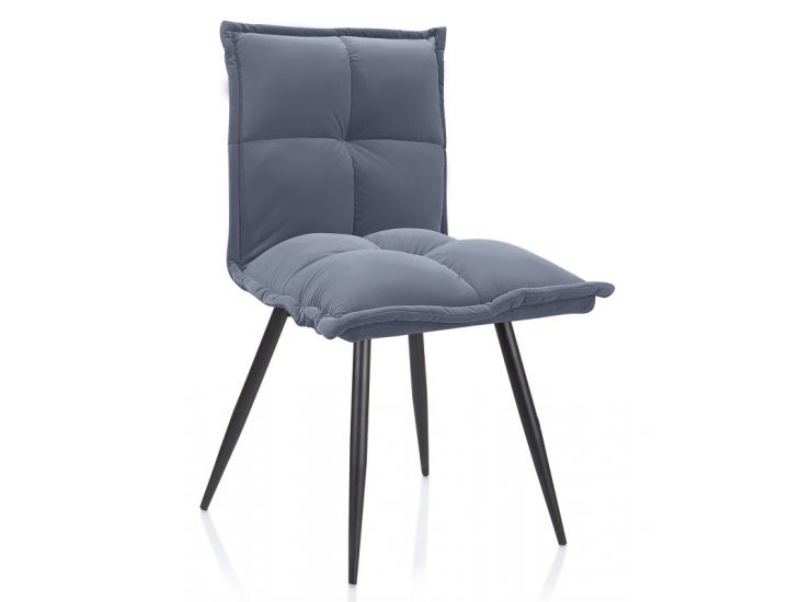 Дизайнерский мягкий стул N-130 матовый серый вельвет