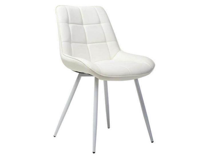 Дизайнерский мягкий стул N-45 белый