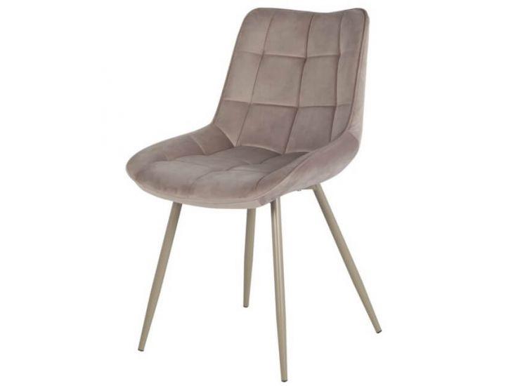 Дизайнерский мягкий стул N-45 капучино вельвет