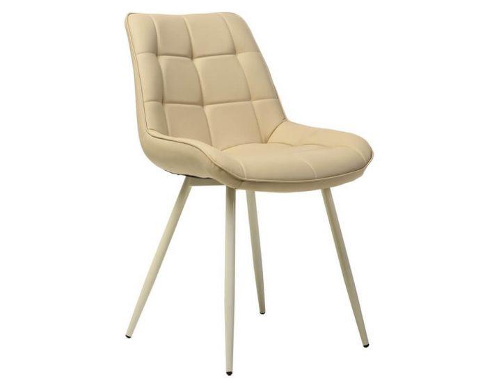 Дизайнерский мягкий стул N-45 молочный
