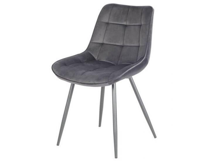 Дизайнерский мягкий стул N-45 серый вельвет