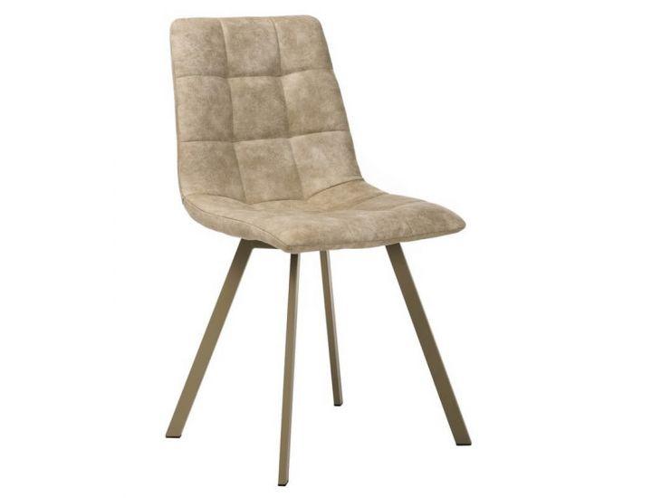 Дизайнерский мягкий стул N-47 капучино нубук
