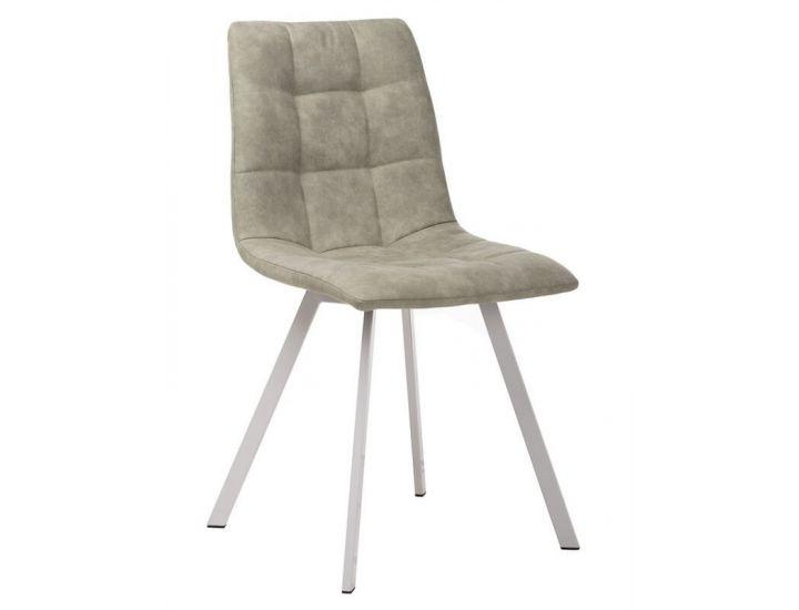 Дизайнерский мягкий стул N-47 сивый нубук