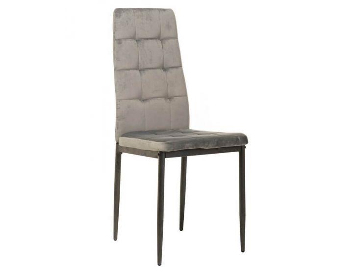 Мягкий стул N-66-2 серый вельвет