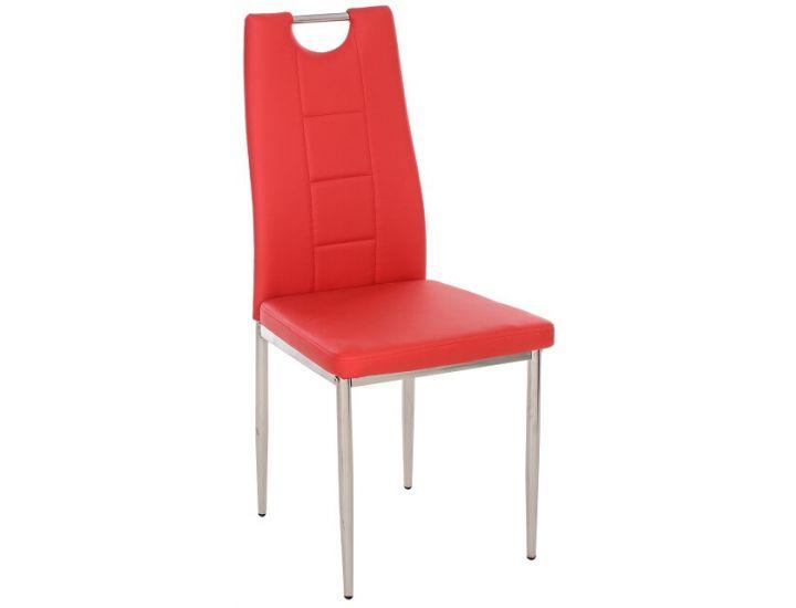 Мягкий стул N-67 красный