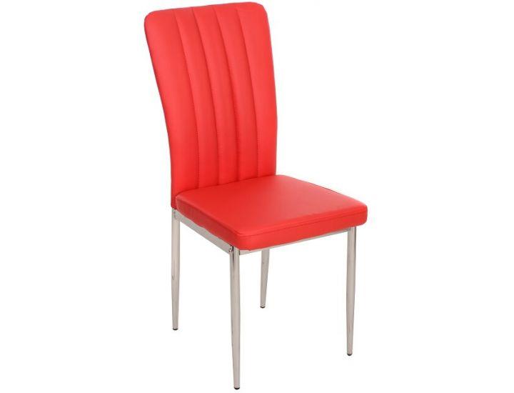 Дизайнерский мягкий стул N-68 красный
