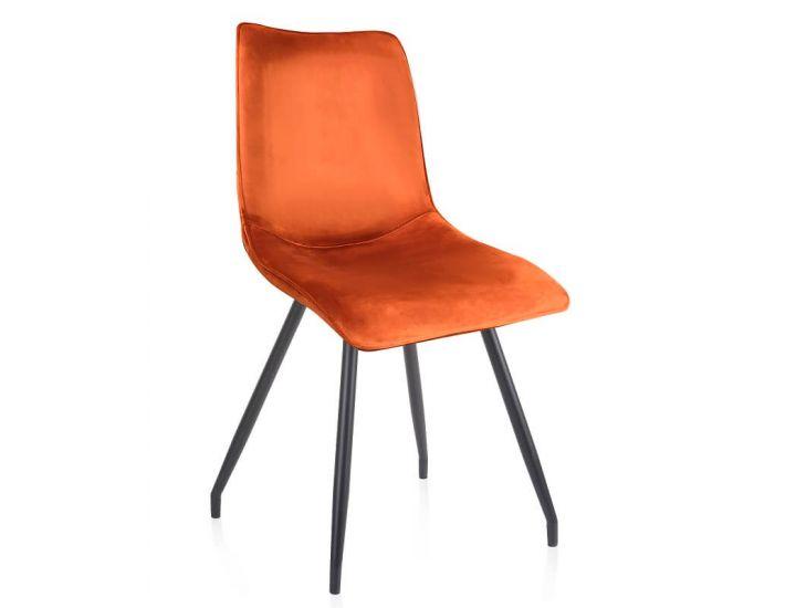 Дизайнерский мягкий стул N-76 матовый медный вельвет