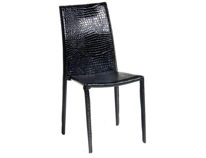 Мягкий стул NC-500 черный крокодил