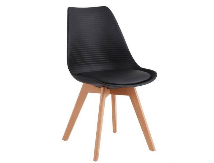 Дизайнерский пластиковый стул P-01 черный VETRO (Ветро)