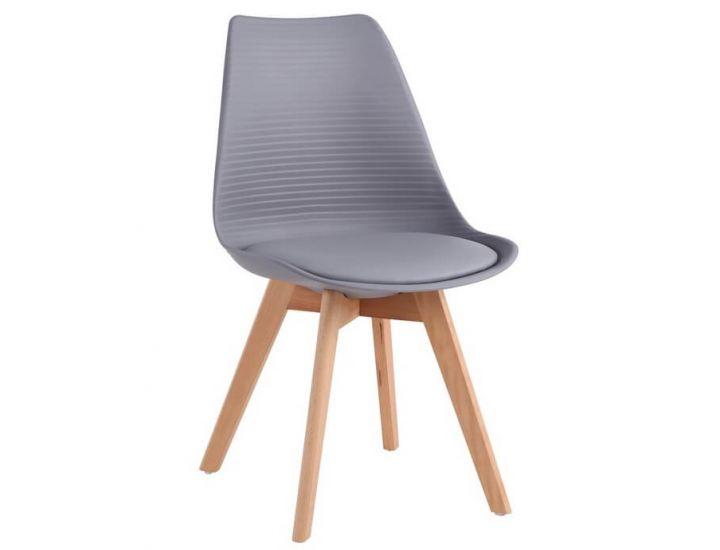 Дизайнерский пластиковый стул P-01 серый VETRO (Ветро)
