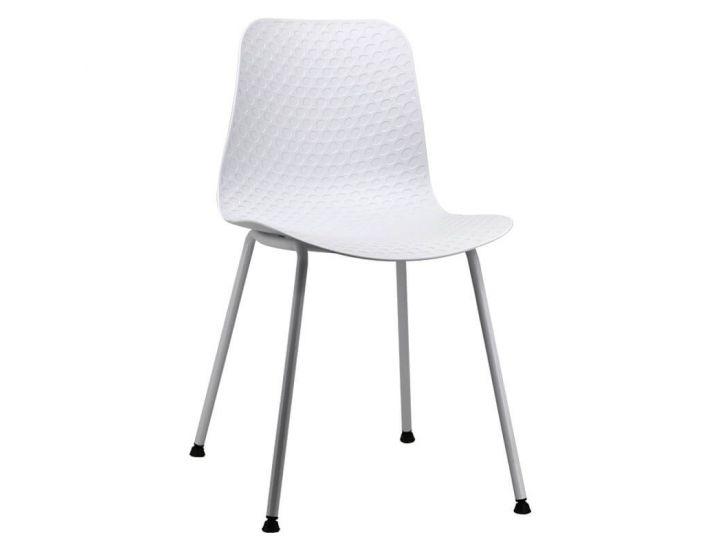 Дизайнерский пластиковый стул P-02 белый VETRO (Ветро)