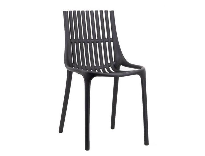 Дизайнерский пластиковый стул P-06 черный VETRO (Ветро)