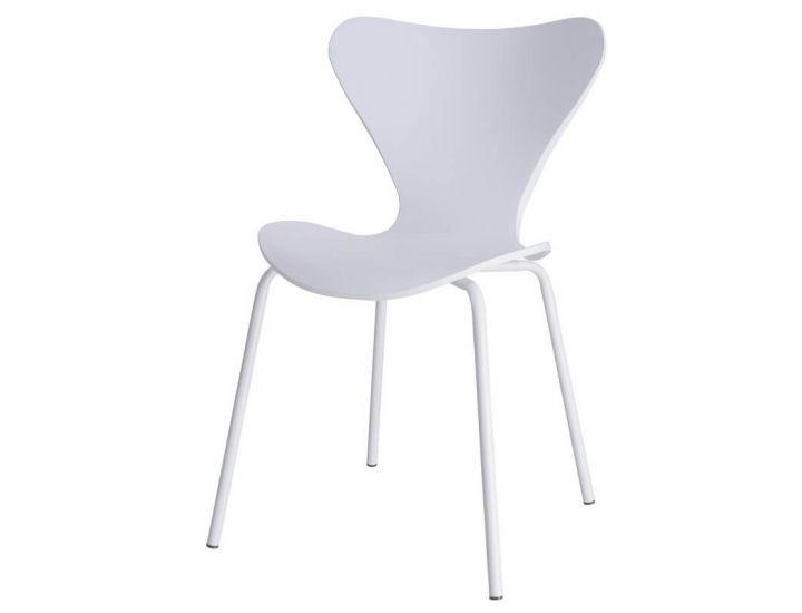 Дизайнерский пластиковый стул P-07 белый VETRO (Ветро)