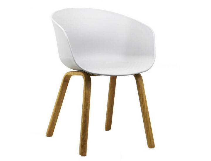 Дизайнерский пластиковый стул P-08 белый VETRO (Ветро)