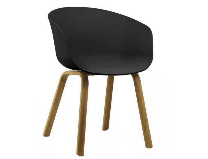 Дизайнерский пластиковый стул P-08 черный VETRO (Ветро)