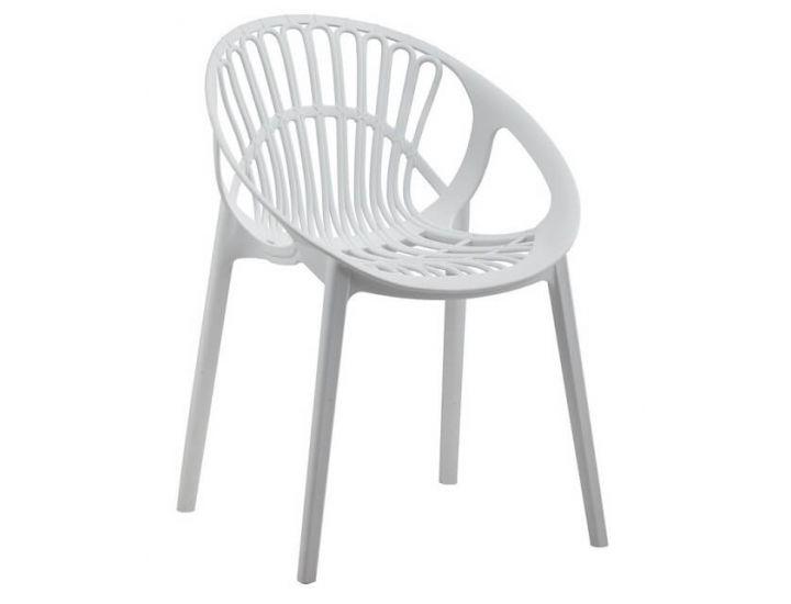Дизайнерский пластиковый стул P-09 белый VETRO (Ветро)