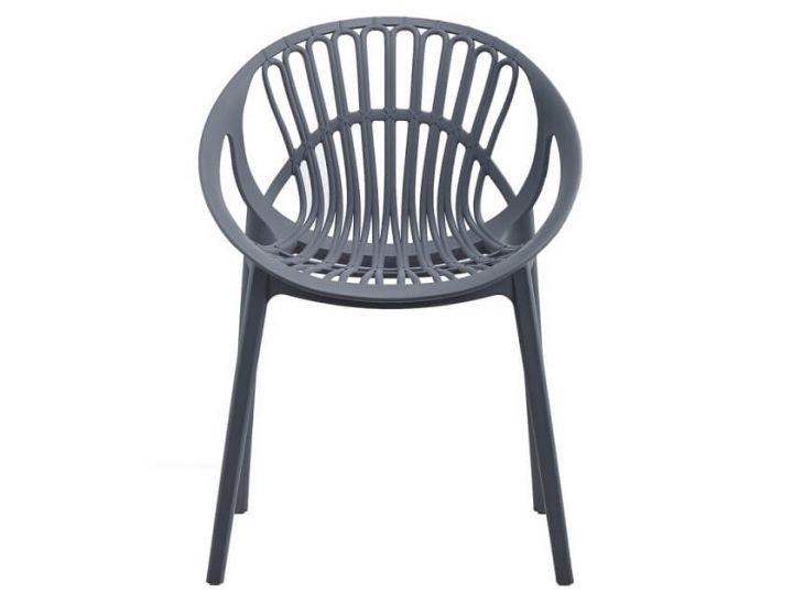 Дизайнерский пластиковый стул P-09 серый VETRO (Ветро)