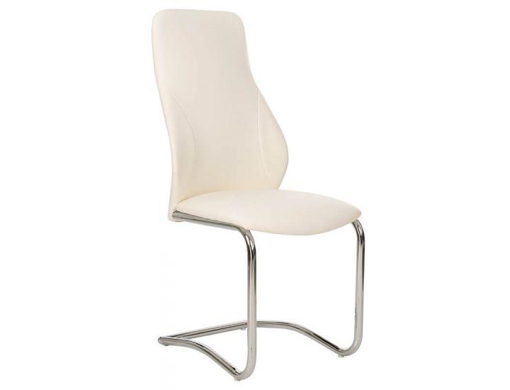 Дизайнерский мягкий стул S-103 белый