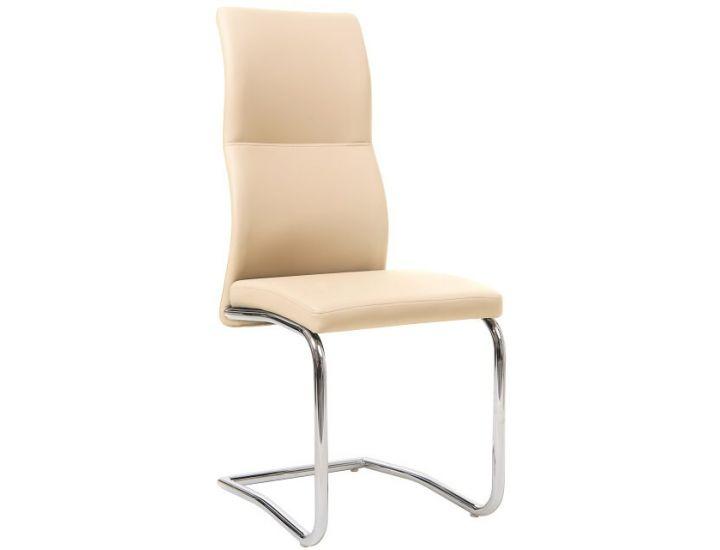 Дизайнерский мягкий стул S-108 бежевый