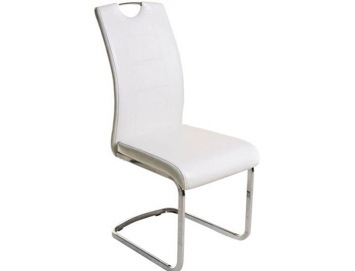 Дизайнерский мягкий стул S-110 белый