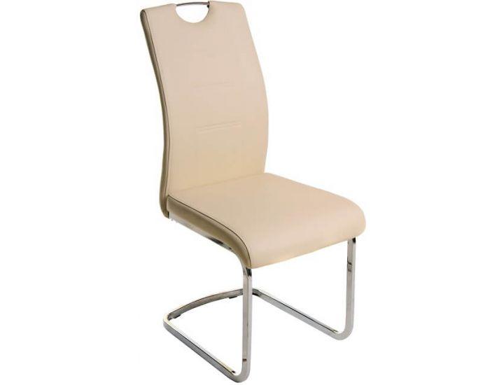 Дизайнерский мягкий стул S-110 бежевый