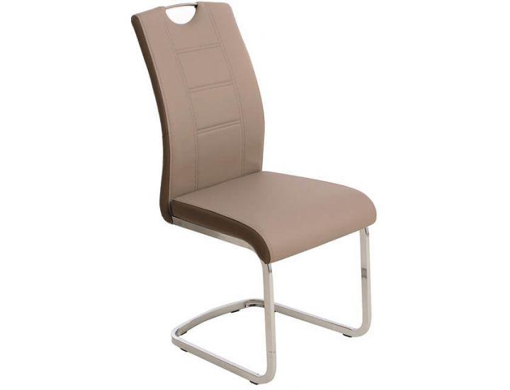 Дизайнерский мягкий стул S-110 капучино + латте