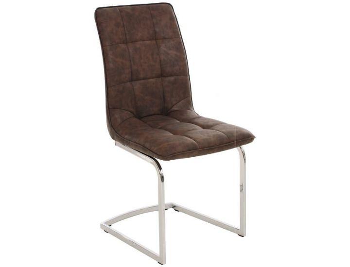 Дизайнерский мягкий стул S-111 коричневый